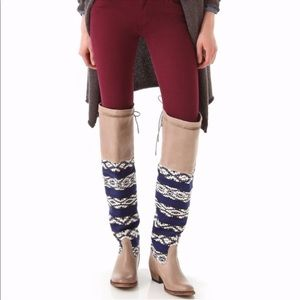 Cobra Society blue over the knee boots